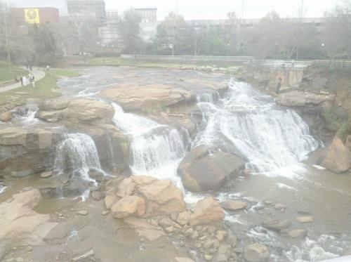 Falls Park, Reedy River.  Greenville, SC